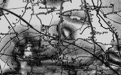 Old map of Widham in 1896