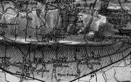 Old map of Widley in 1895