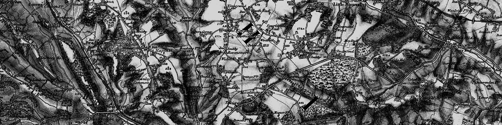 Old map of Widmer End in 1895