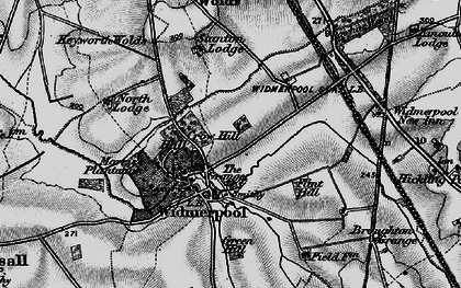 Old map of Widmerpool in 1899