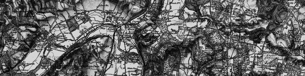 Old map of Woolman's Wood in 1896