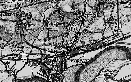 Old map of Widnes in 1896
