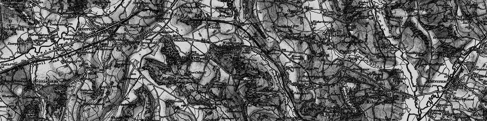 Old map of Widworthy in 1898