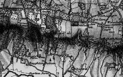 Old map of Wierton in 1895