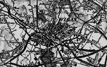 Old map of Wigan in 1896