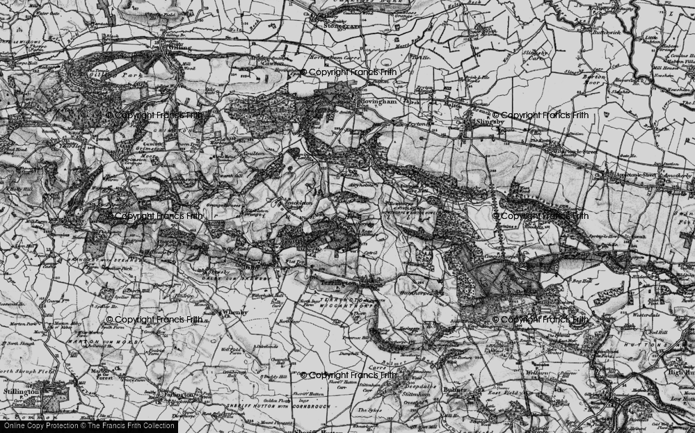 Old Map of Historic Map covering Airyholme in 1898