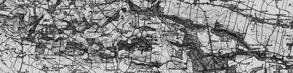 Old map of Wiganthorpe in 1898