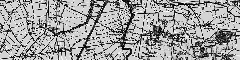 Old map of Wiggenhall St Mary Magdalen in 1893