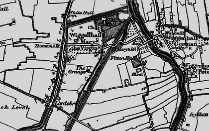 Old map of Wiggenhall St Mary the Virgin in 1893