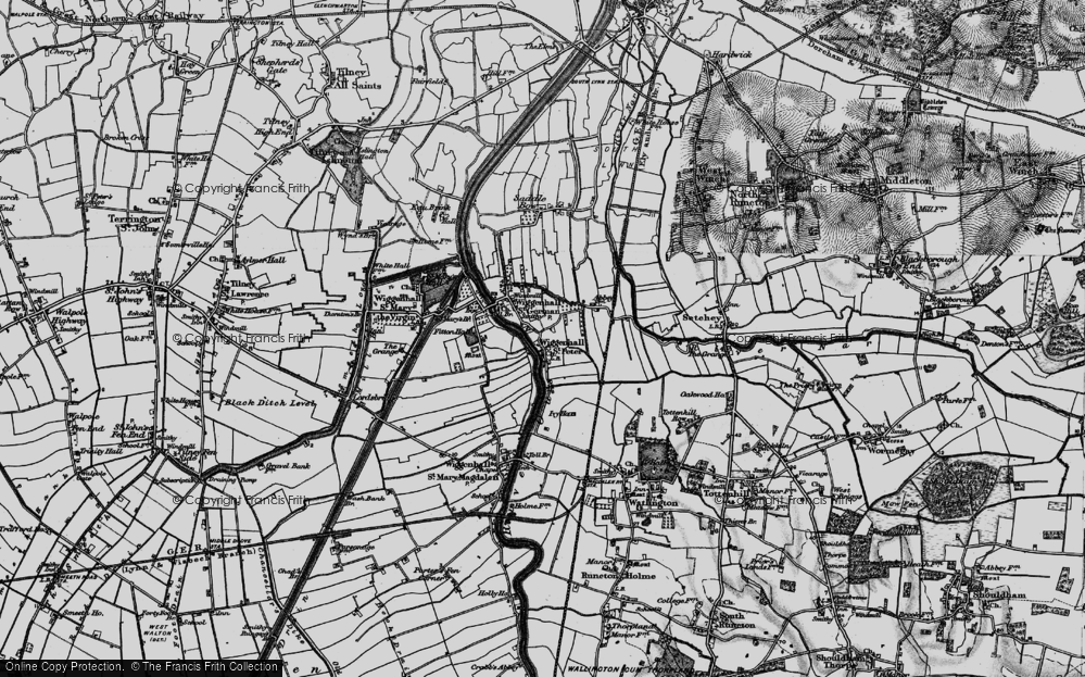Old Map of Wiggenhall St Peter, 1893 in 1893