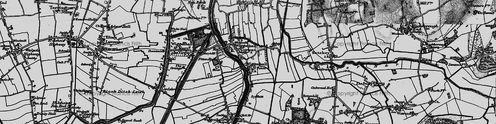 Old map of Wiggenhall St Peter in 1893