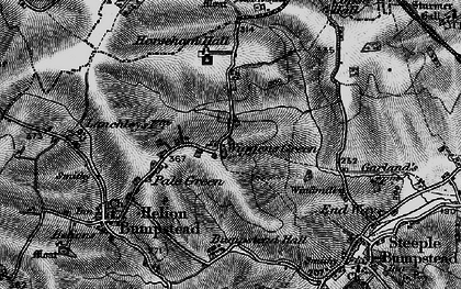Old map of Wiggens Green in 1895