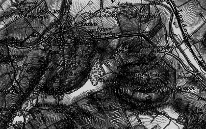 Old map of Wigginton in 1896
