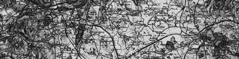 Old map of Wigginton in 1897