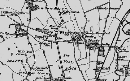 Old map of Wigginton Moor in 1898