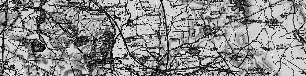 Old map of Wigginton in 1898