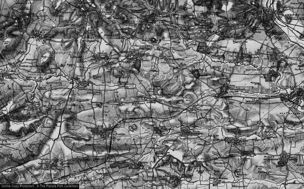 Old Map of Wigginton Heath, 1896 in 1896