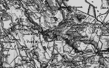 Old map of Wigglesworth in 1898