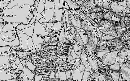 Old map of Wiggonholt in 1895