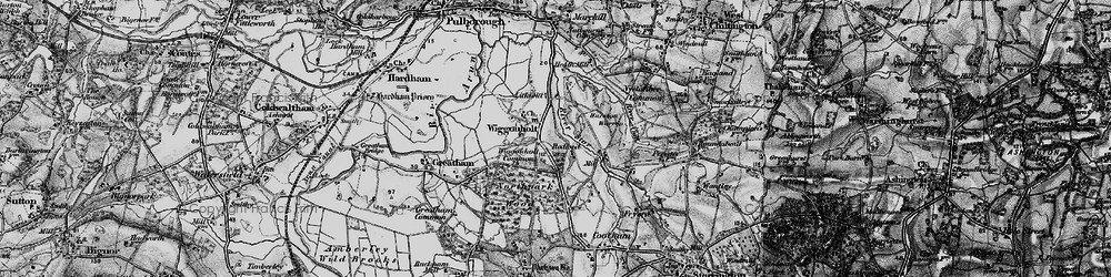 Old map of Wiggonholt Common in 1895