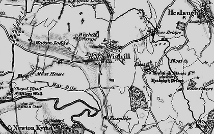 Old map of Wighill in 1898
