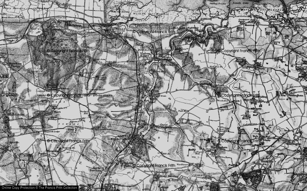Old Map of Wighton, 1899 in 1899