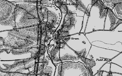 Old map of Wighton in 1899