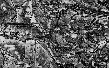 Old map of Wigley in 1896
