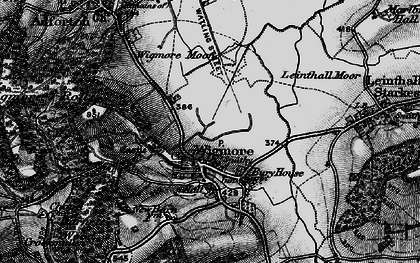 Old map of Wigmore Rolls in 1899