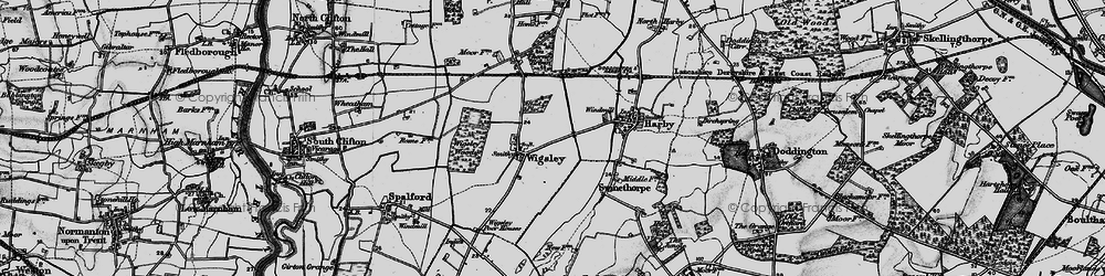 Old map of Wigsley in 1899