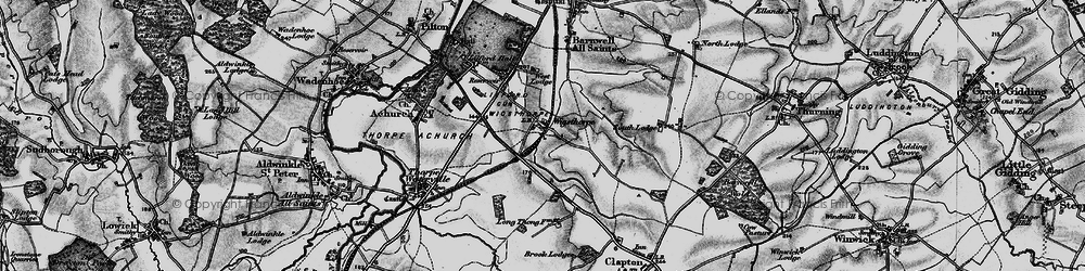 Old map of Wigsthorpe in 1898