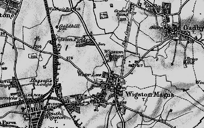 Old map of Wigston in 1899