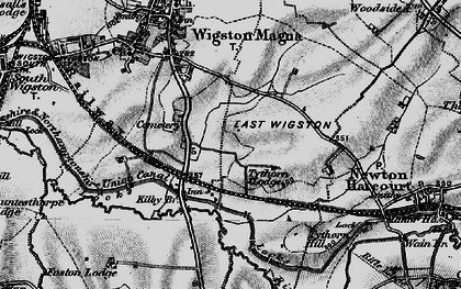Old map of Wigston Harcourt in 1899
