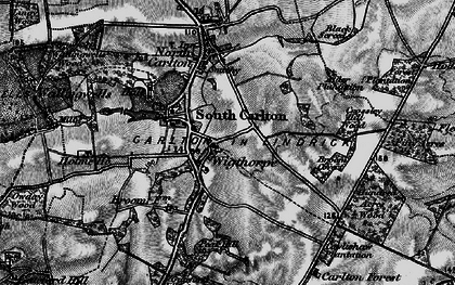 Old map of Wigthorpe in 1899