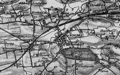 Old map of Wigton in 1897