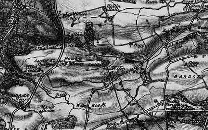 Old map of Wike Whin in 1898