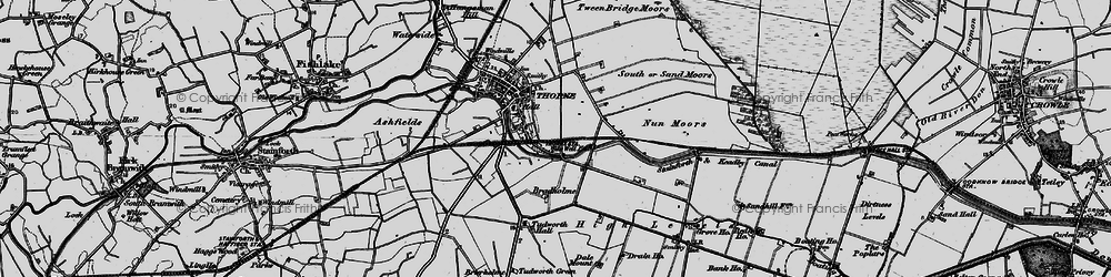 Old map of Wike Well End in 1895