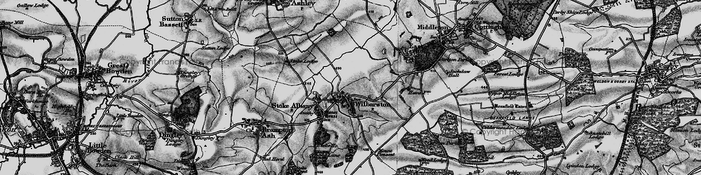 Old map of Wilbarston in 1898
