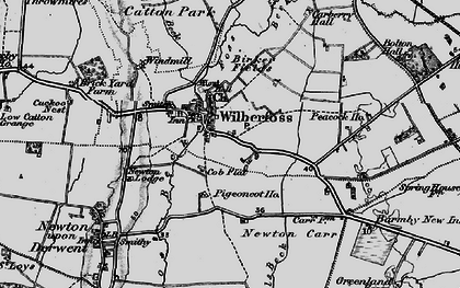 Old map of Wilberfoss in 1898
