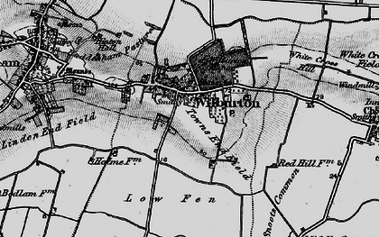 Old map of Wilburton in 1898