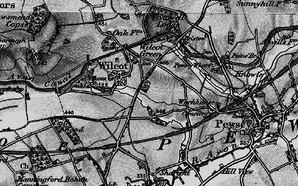 Old map of Wilcot in 1898