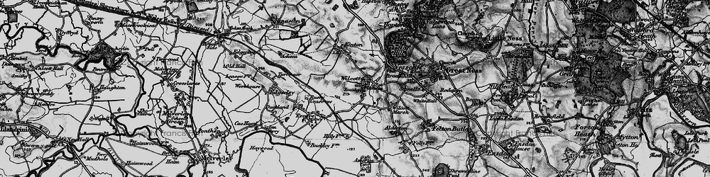 Old map of Wilcott in 1899