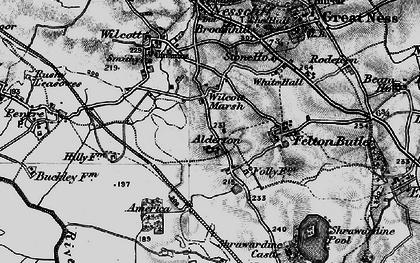 Old map of Wilcott Marsh in 1899