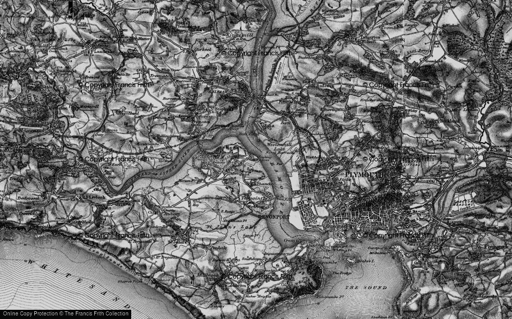 Old Map of Wilcove, 1896 in 1896