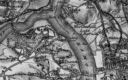 Old map of Wilcove in 1896