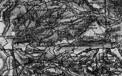 Old map of Wilday Green in 1896