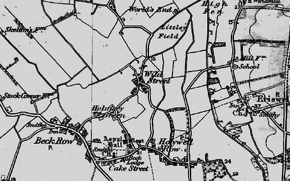 Old map of Wilde Street in 1898