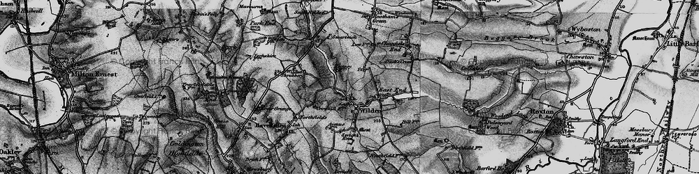 Old map of Wilden in 1898