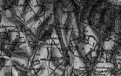 Old map of Wildhern in 1895