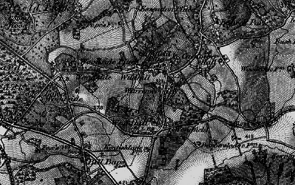 Old map of Wildhill in 1896